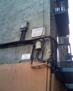 Cartel que el Ayuntamiento se ha dejado por descuido (imagen propia)